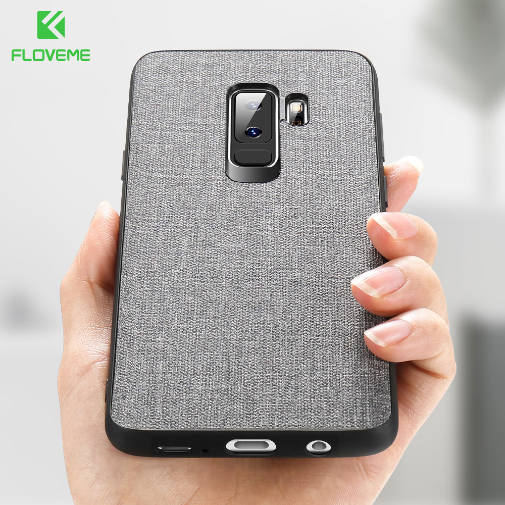FLOVEME Fabric Leather <font><b>Case</b></font> for <font><b>Samsung</b></font> <font><b>Galaxy</b></font> S8 S9 plus S7 edge Luxury <font><b>Cases</b></font> for <font><b>Samsung</b></font> A7 A6 <font><b>A8</b></font> A9 2018 Note 9 8 <font><b>Phone</b></font> Cover image
