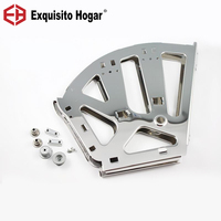 Stainless Steel Shoe Cabinet Hardware Flip Frame Connector Movable Plate Frame Type Metal Hidden Over Fitting