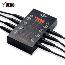 YUEKO YK-21 ISO8 PLUS Isolated Power Supply for Guitar Effect Pedal 8 pcs DC cables plus 1Y cable Accessories