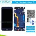 Azul display lcd completo para huawei honor 8 frd-al00 frd-dl00 touch screen digitador de vidro + quadro assembléia substituição