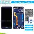 Blue Full LCD For Huawei Honor 8 FRD-AL00 FRD-DL00 Display Touch Screen Digitizer Glass + Frame Assembly Replacement