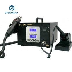 PHONEFIX AT8502D inteligentny bez ołowiu telefon komórkowy lutowania naprawy żelaza na gorące powietrze stacja lutownicza bga dla do naprawy płyty głównej narzędzie w Stacje lutownicze od Narzędzia na