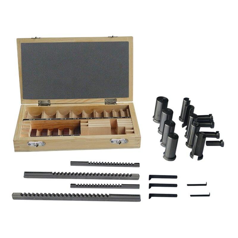 22 шт. шпоночный набор втулок Комплект прокладок метрическая система 12 30 HSS шпоночный инструмент нож для станка с ЧПУ Бесплатная доставка