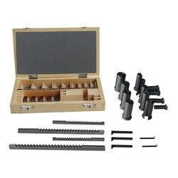 22pcs Keyway Broach Set Bushing Shim Set Metric System 12-30 HSS Keyway Tool knife for CNC Machine FREE SHIPPING