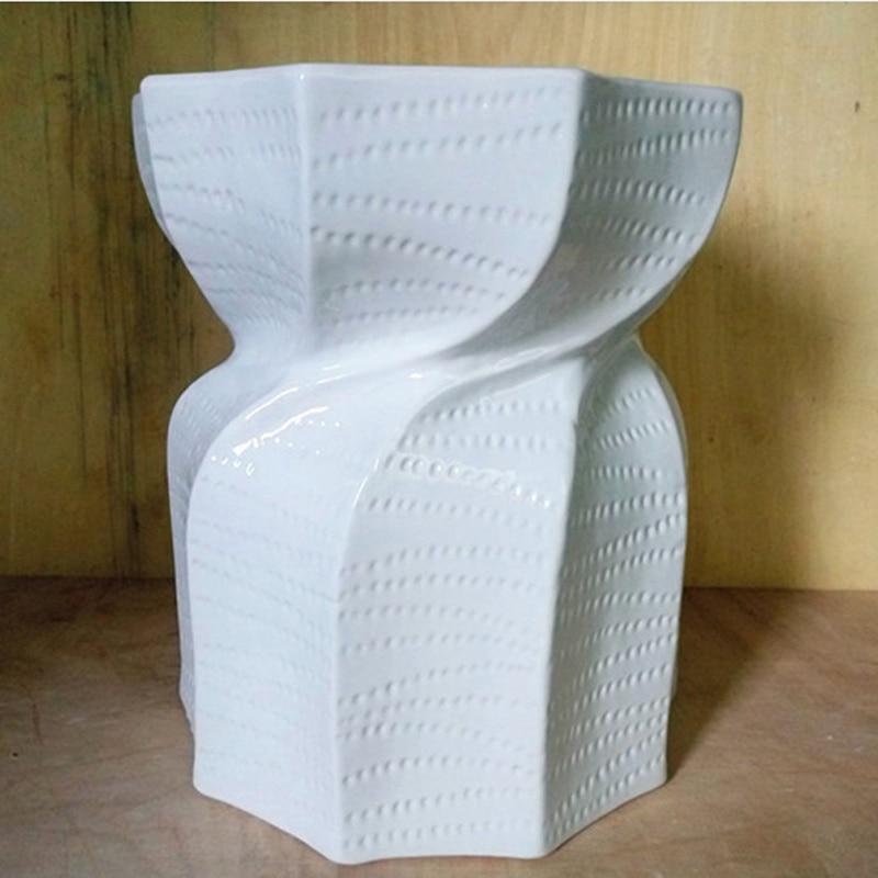New Living Room Leisure Stool  White Ceramic Art Foot Stool art ceramic
