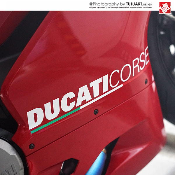 Motorcycle Custom For MOTOGP Ducati PANIGALE 959 Graphics Decals Moto Body Side Stickers Italian Flag