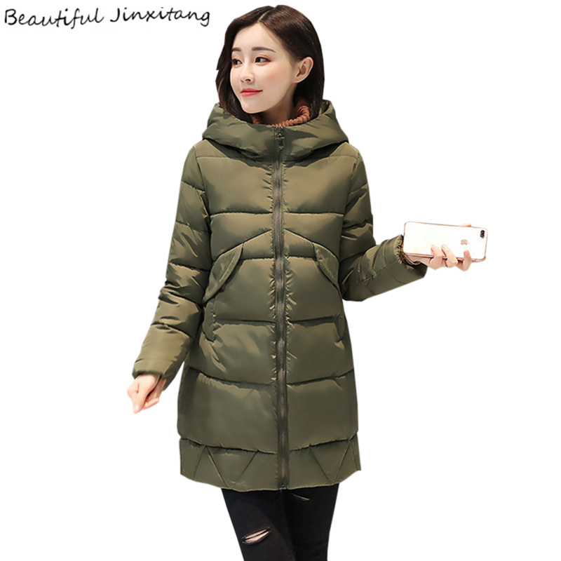 Thicking Women's winter coats 2017 New Loose Coat female Long sleeves Slim Female jacket Cotton down jacket Fashion Coats K403A0