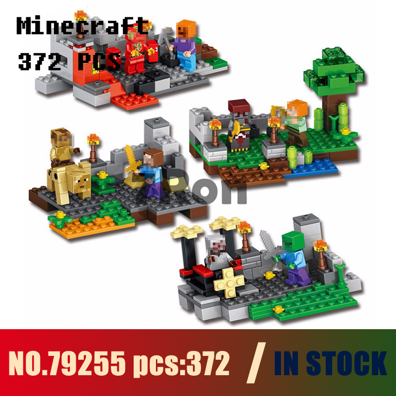 Models building kits 79255 372pcs 4set My World WiZard King Gyro Rock Knight Building Blocks compatible with lego toys & hobbies