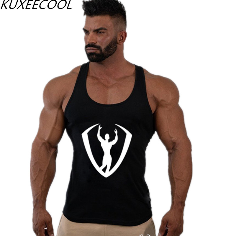 Men Cotton   Tank     top   Gyms Workout Fitness Sleeveless shirt Crossfit clothing Stylish fitness   tank     top   Singlet male Casual Vest