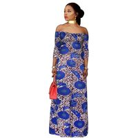 2017 African Women Clothing Plus Size Maxi Dress Africaine Polyester Off Shoulder Robe De Soiree Women