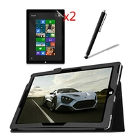 4in1 Luxury Magnetic Folio Stand Leather Case Cover 2x Screen Protector Stylus For Microsoft Surface3 Surface