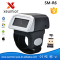 Portable Wearable Ring Barcode Scanner 1D Laser Barcode Reader Mini Bluetooth Scanner 360mA battery
