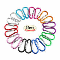 20PCS Carabiner for Keys Chain Key Chain Mini Gourd-Shaped Aluminum Alloy Keychain Clip Hook Lock Travel Hiking Camping