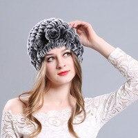 AngelBola 2017 Women Fur Keep Warm Mushroom Cap Rex Rabbit Hair Hat Korean Version Fashion