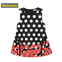 Balabala New Spring Dress For 2018 Girl Clothes Sweet Princess Dresses Girl Child Toddler Dress Enfant