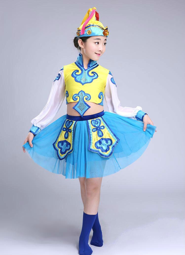 Girls Mongolia font b Clothing b font Hmong Clothes font b Chinese b font Folk Dance