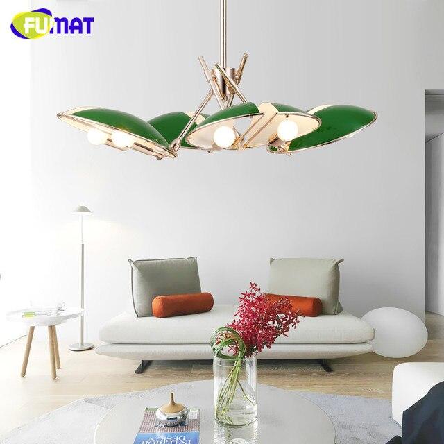 4821 Fumat Lámpara Moderna Iluminación Metal Lustre Lamparas Colgante Lámpara Para Dormitorio Comedor Luminaria Luz Interior Candelabros En