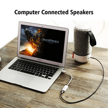 Ugreen External USB Audio Sound Card Mic Adapter Speaker 3.5mm Jack Stereo Audio Cable Headset for PS4 Laptop Computer Headphone