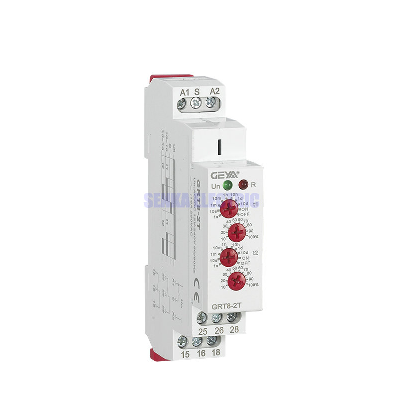 Multi-function 4-Knobs Din Rail 2 Groups DC AC 12V 24V 220V Mini Timer Relay Switch Time Delay Relays