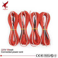 12K 33ohms Connected Electric Wire 10m Teflon Infrared Underfloor Heating Cable System Carbon Fiber Wire Electric