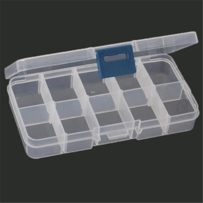 New Plastic 10 Slots Compartment Adjustable Jewelry