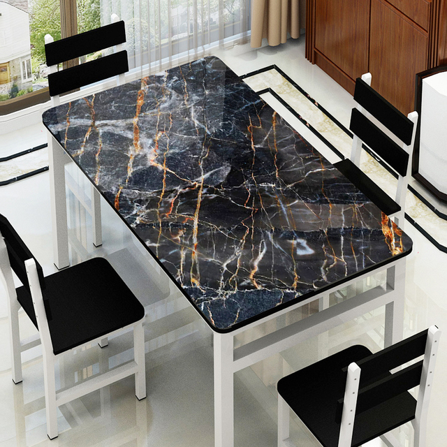 Luxury Nordic style party table decoration mat Imitation marble tablecloth plastic pad PVC waterproof Placemat Coffee table mats