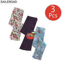 SAILEROAD 3pcs Animal Print Leggings for Girls Cotton Toddler Fille Children Clothes  Kids Trousers