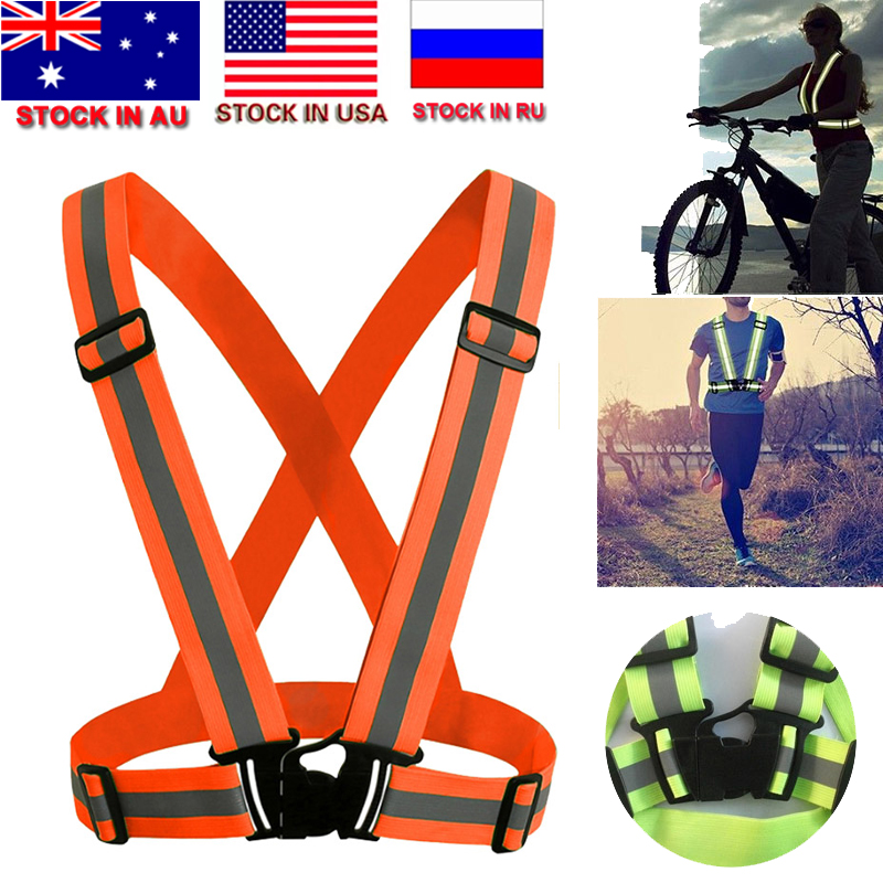 New Unisex Outdoor Cycling Safety Vest Bike Ribbon Bicycle Light Reflecing Elastic Harness For Night Riding Running Jogging Back To Search Resultssports & Entertainment Cycling