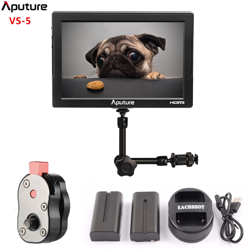 Aputure New 7 Monitor SDI HDMI Input With Waveform Vectorscope Histogram Zebra False Color Lcd Monitor For DSLR Camcorder VS 5 aputure digital 7inch lcd field video monitor v screen vs 1 finehd field monitor accepts hdmi av for dslr