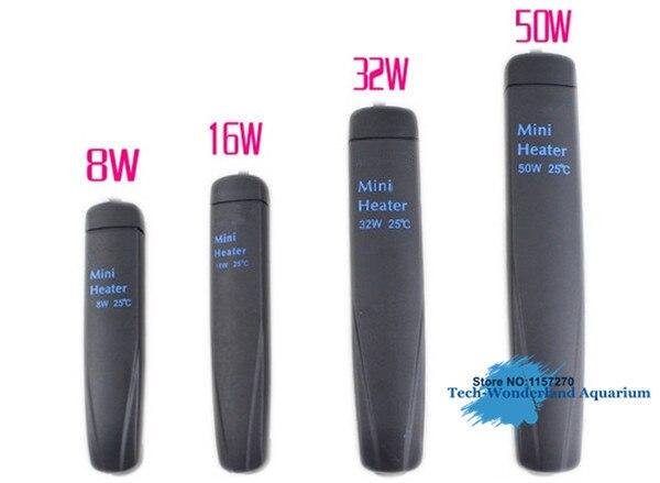 Automatic Constant Temperature Submerge Heater For Aquarium Turtle Jar Mini Heating Rod 8W 16W 32W