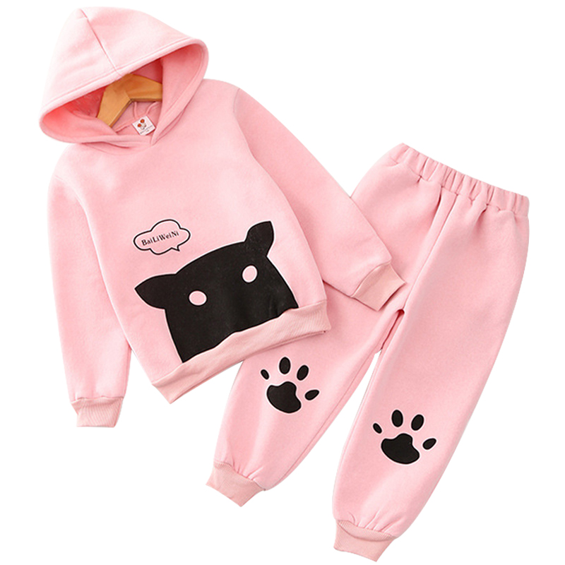 Women Clothes Units Spring Autumn Kids Cartoon Clothes Units Cute Hoodie+Pants 2PCS Fits 2019 3-7 Years Child Lady Garments Clothes Units, Low cost Clothes Units, Women Clothes Units Spring...