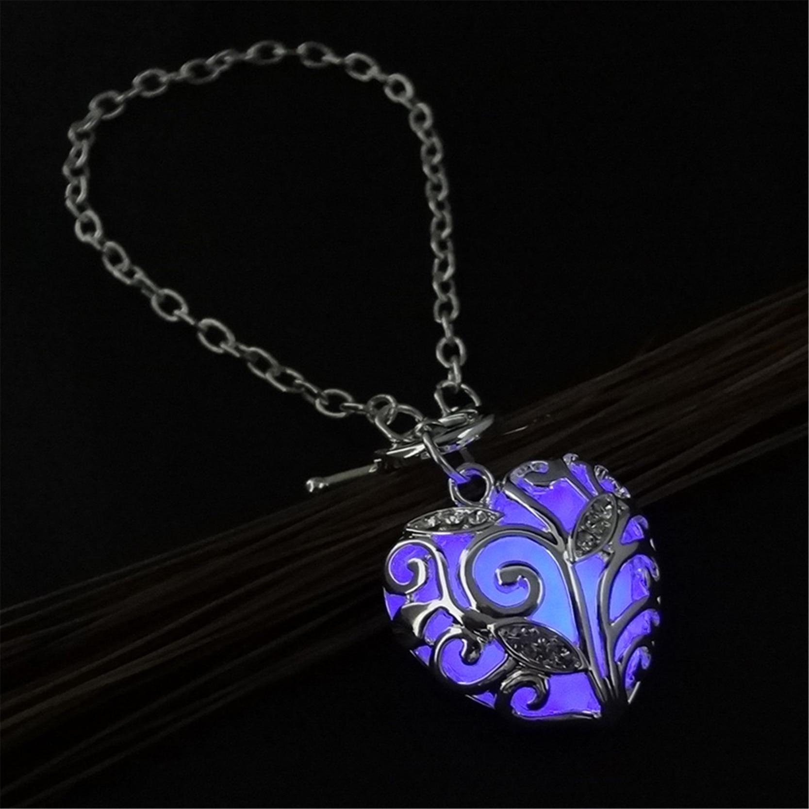 Fashion Silver Luminous Armband Glödande i Dark Heart Shaped - Märkessmycken - Foto 3