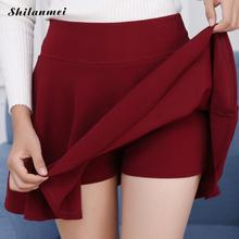 Plus Size Skirt Women High Waist Pleated Summer Autumn Large Short Skirts 10 Colors Mini Female 5xl 4xl 3xl