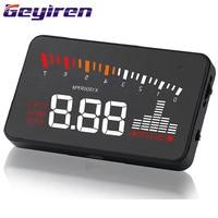 Car HUD Head up Display General Digital Projector OBD Windshield Speed Projector Car Electronics Security Alarm System X5