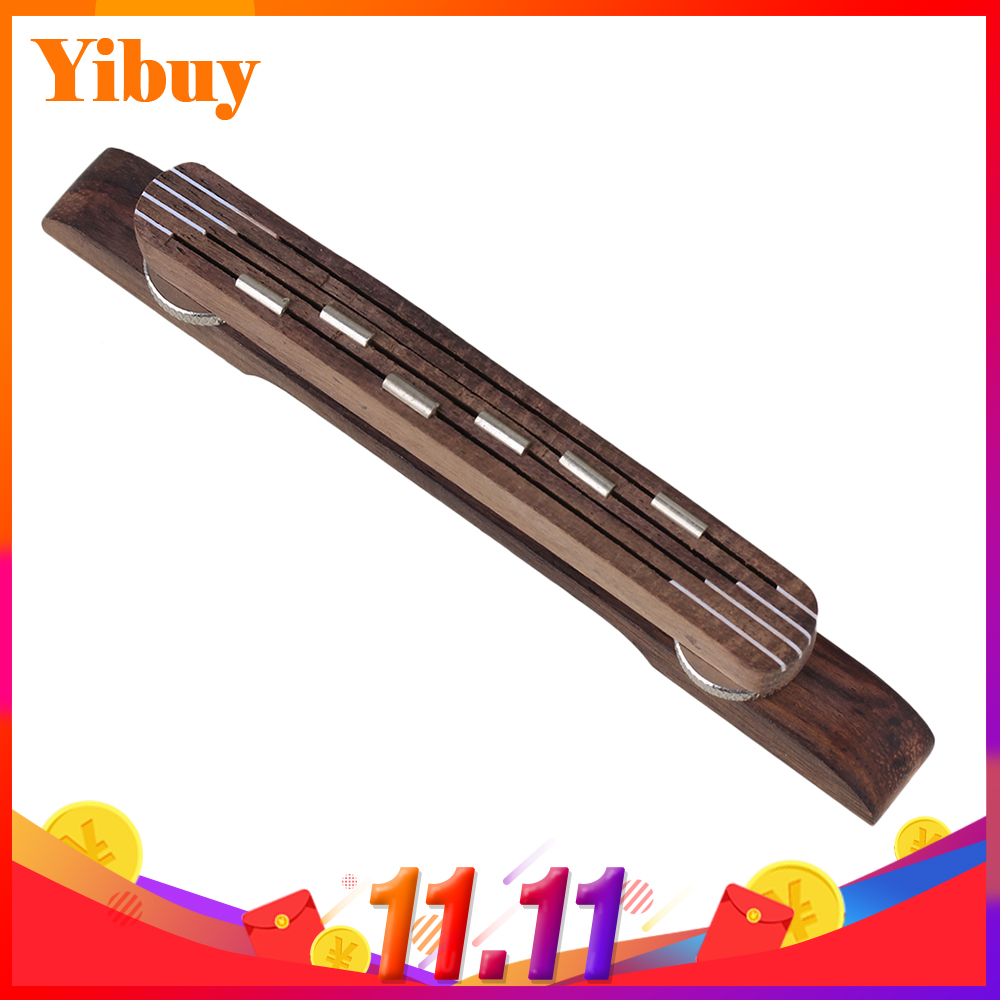 Yibuy Adjustable Floating Bridge Rosewood for 6 String Archtop Jazz Guitar pro jewelry floating mini charms for floating locket