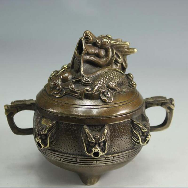 Copper incense burner, smoked, Kowloon embalm ta