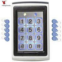 YobangSecurity RFID Card Door Lock Access Control Keypad With Waterproof Non contact Outdoor Door Controller +10pcs RFID Card