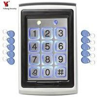YobangSecurity RFID Card Door Lock Access Control Keypad With Waterproof Non contact Outdoor Door Controller +10pcs RFID Card