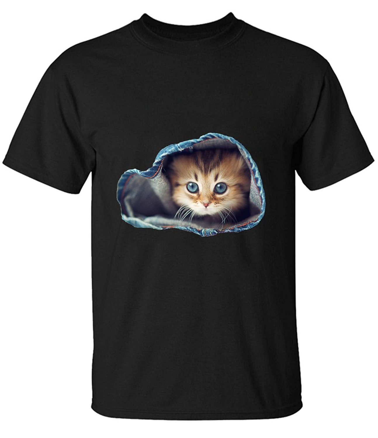 Summer Fashion Funny Tops Tee Casual cute pet in a jeans Tee For Man