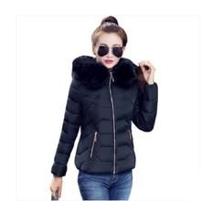 купить Womens Winter Jackets And Coats 2016 Women's Parkas Thick Warm Faux Fur Collar Hooded Anorak Ladies Jacket  по цене 1289.72 рублей