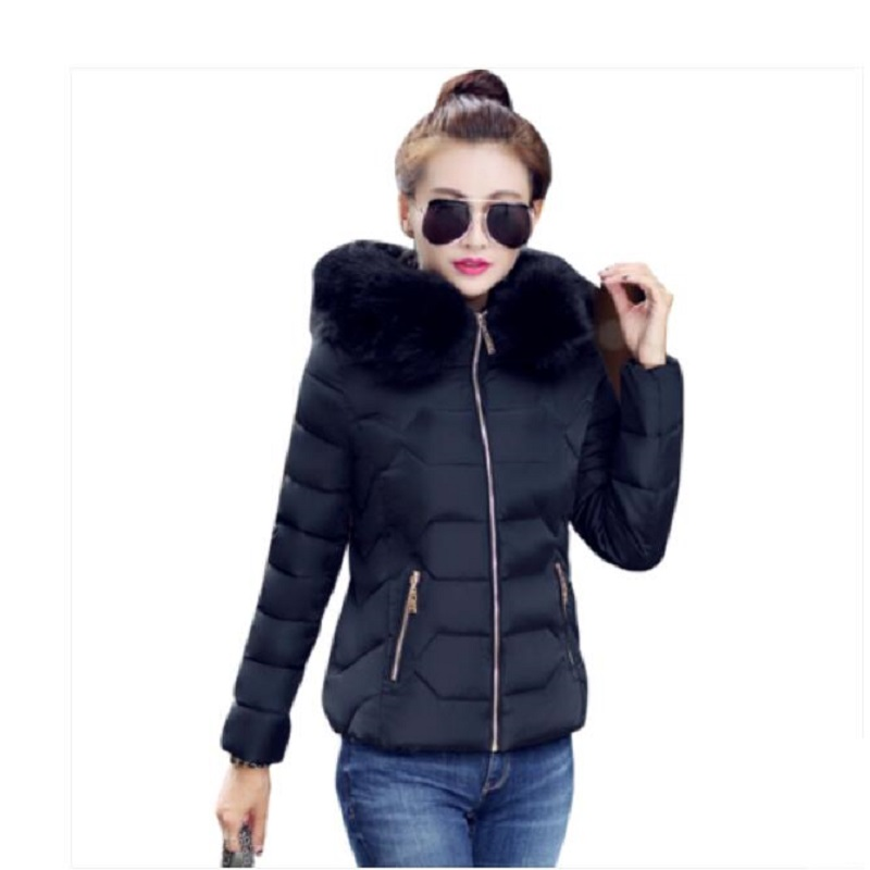 Womens Winter Jackets And Coats 2019 Fashion Women's   Parkas   Thick Warm Faux Fur Collar Hooded Anorak Ladies Jacket   parka   mujer