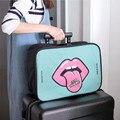 1 UNIDS de Gran Capacidad de Bolsa de Viaje Con Imágenes de Dibujos Animados de Moda Personalizada Bolsas de Equipaje Accesorios Práctica Bolsa De Almacenamiento Portátil