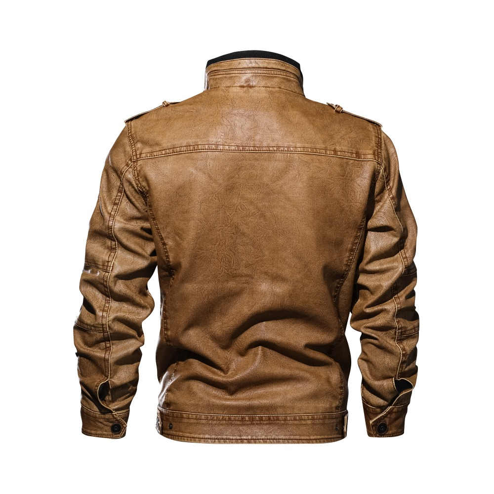 drop shipping brand high quality motorcycle leather jacket men mens leather jackets coats Men Jaqueta De Couro Masculina L-5XL