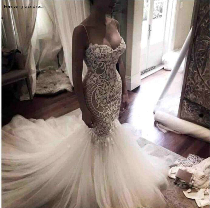South African Black Girls Wedding Dresses 2019 Vintage Mermaid Spaghetti Straps Garden Country Bride Bridal Gowns Plus Size