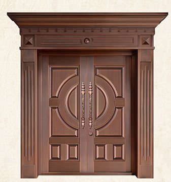 Bronze Door Security Copper Entry Doors Antique Copper Retro Door Double Gate Entry Doors H-c11