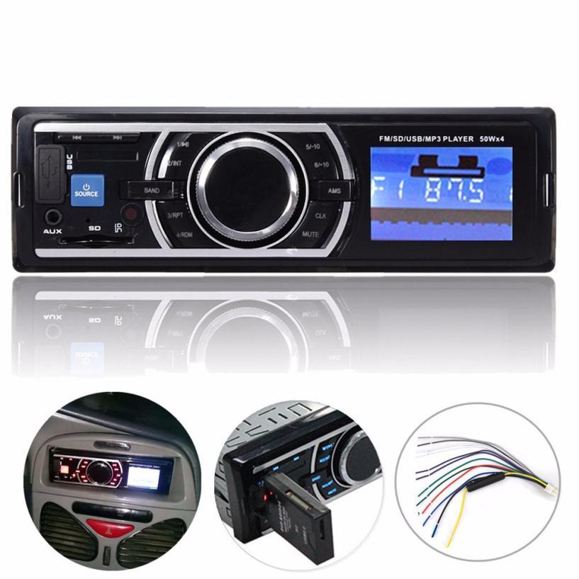 2017 Car Stereo Audio In Dash FM Aux Input Receiver SD USB MP3 Radio Player 1