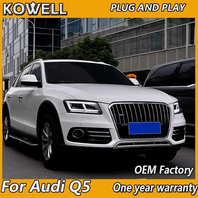Car Styling for Audi Q5 Headlights 2009-2012 2013-2018 Q5 LED Headlight DRL  Lens Double Beam bi-LED lens car headlight