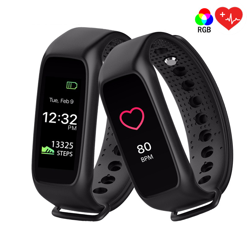 Original L30T Bluetooth Smart Band Wristband Heart Rate Monitor Full Color TFT LCD Screen Smartband for