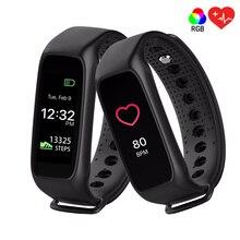 Оригинальный L30T Bluetooth Smart Браслет монитор сердечного ритма полный Цвет TFT-LCD Экран smartband для iOS Apple Smart