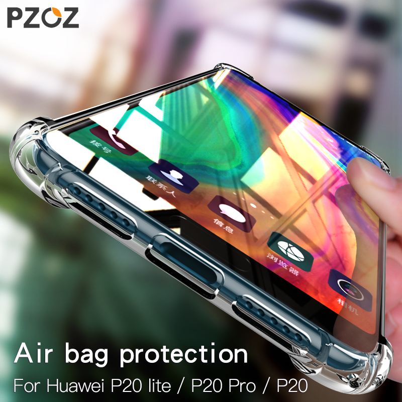 best loved de141 621e2 PZOZ P20 Case For Huawei P20 Lite Pro Luxury Shockproof Silicon TPU ...
